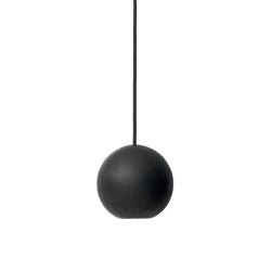 Liuku Base - Black lacquered FSC certified Linden Wood, Ball | Suspended lights | Mater