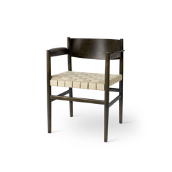 Nestor - Sirka Grey Stained Beech with Natural Linen Belt Seat | Chairs | Mater