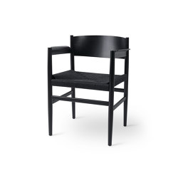Nestor - Black Stained Beech with Black Paper Cord Seat | Chairs | Mater