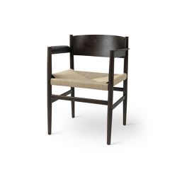 Nestor - Sirka Grey Stained Beech with Natural Paper Cord Seat | Chairs | Mater