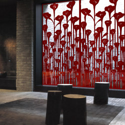 Poppies | Bespoke wall coverings | Yellow Goat Design