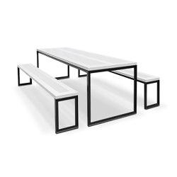 Formatione | Mesas y bancos | Kim Stahlmöbel