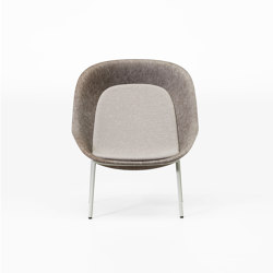 Nook PET Felt Lounge Chair | Armchairs | De Vorm