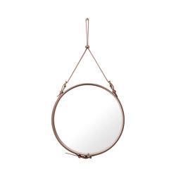 Adnet  Circulaire Wall Mirror - Alcantara Ø 60 | Spiegel | GUBI