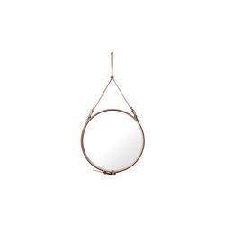 Adnet  Circulaire Wall Mirror - Alcantara Ø 58 | Mirrors | GUBI