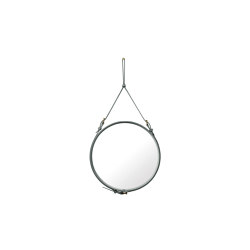 Adnet  Circulaire Wall Mirror - Alcantara Ø 58 | Espejos | GUBI
