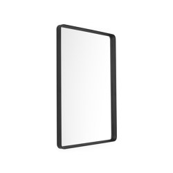Norm Wall Mirror   Rectangular Black   Mirrors   MENU
