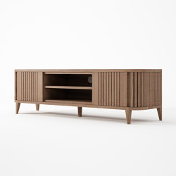 Koppar MEDIA CABINET WITH 2 DOORS AND REMOVABLE SHEL | Multimedia sideboards | Karpenter