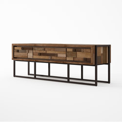 Carv'n MEDIA CABINET WITH 3 DRAWERS | Sideboards | Karpenter