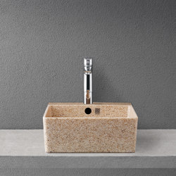 Cube 40 with faucet place | Wash basins | Woodio