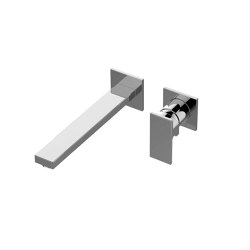 Incanto - Wall-mounted basin mixer with 23,5cm spout (Trim only) | Bath taps | Graff