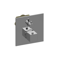 """Incanto - Uni-Box - 3/4"""" concealed thermostatic and cut-off valve - exposed parts 