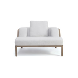 Grand Life Lounge armchair with cushion | Sessel | Ethimo