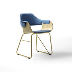 Showtime chair - sled base | Chairs | BD Barcelona