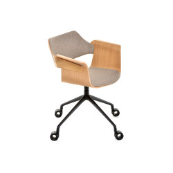 Flagship Armchair with swivel base and castors | Stühle | PlyDesign