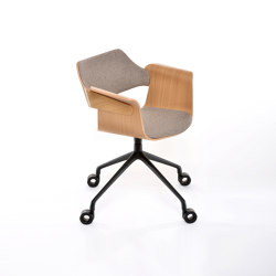 Flagship Arm chair with swivel base and castors | Chairs | PlyDesign