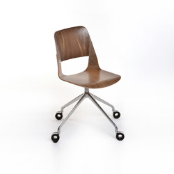 Frigate Chair with swivel base and castors | Sillas | PlyDesign