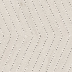 Lagom | Coated White Chevron A+B | Ceramic flooring | Marca Corona
