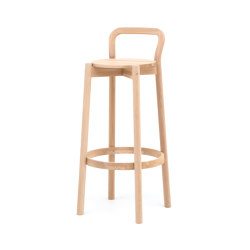 Castor Barstool with Backrest High | Taburetes de bar | Karimoku New Standard