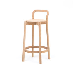 Castor Barstool with Backrest Low | Taburetes de bar | Karimoku New Standard