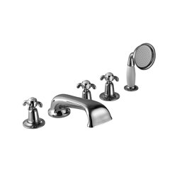5-hole bath mixer with handset | Bath taps | Kenny & Mason