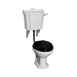 London low level toilet with handle Horizontal outlet | WC | Kenny & Mason