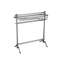 Standing towel rail with bottle basket | Towel rails | Kenny & Mason