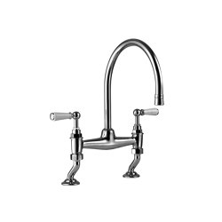 Kitchen bridge mixer white levers | Kitchen taps | Kenny & Mason