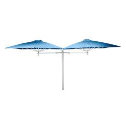 Paraflex Duo Square Blue Storm | Parasols | UMBROSA