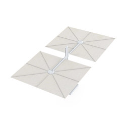 Spectra Opposite WHITE Canvas | Parasols | UMBROSA