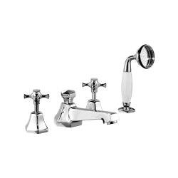 Cubist Deck-Mounted Bath Shower Set   Grifería para bañeras   Czech & Speake