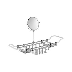 Edwardian Bath Rack with Mirror | Bath shelves | Czech & Speake