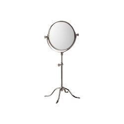 Edwardian Free Standing Shaving / Make up Mirror in Nickel | Bath mirrors | Czech & Speake