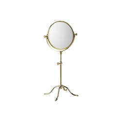 Edwardian Free Standing Shaving/Make-Up Mirror in DuraGold | Bath mirrors | Czech & Speake