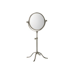 Edwardian Free Standing Shaving/Make-Up Mirror in Matt Nickel | Bath mirrors | Czech & Speake