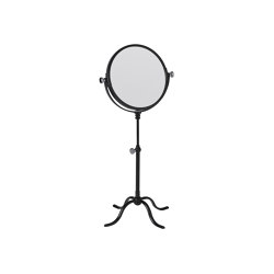 Edwardian Freestanding Shaving/Make Up Mirror In Satin Black | Bath mirrors | Czech & Speake