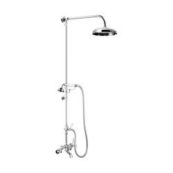 Edwardian Fixed Rigid Riser with Diverter, Hand Shower & Shower Arm   Shower controls   Czech & Speake