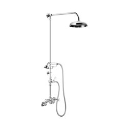 Edwardian Wall Mounted Shower Mixer (Adjustable ½″ Unions)   Shower controls   Czech & Speake
