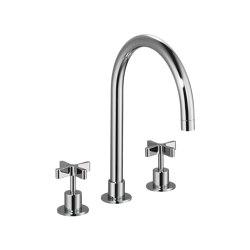 DCA Kitchen Three-Hole Sink Mixer | Kitchen taps | Czech & Speake