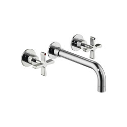 DCA Wall Mounted Three-Hole Basin Mixer | Grifería para lavabos | Czech & Speake