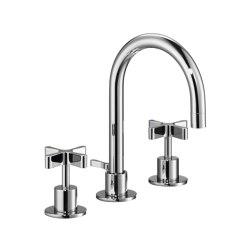 DCA Three-Hole Basin Mixer 165mm | Wash basin taps | Czech & Speake