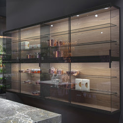 Wall Units With Glass Sliding Doors | Display cabinets | Rossana