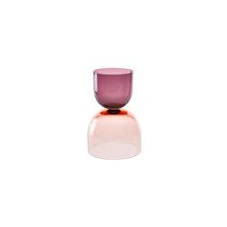 Crescent Vessel Shape 1 Plum/Copper Ruby | Objets | SkLO