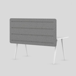 MUSE DESK LOW/HIGH acoustic table mounted | Sistemi assorbimento acustico tessili | XAL