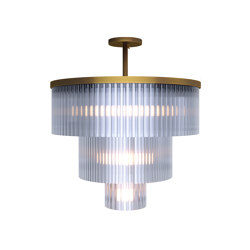 Wharf Ceiling Light - Brass | Suspended lights | Harris & Harris