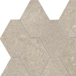 Epika Almond Mosaico Losanga Dek | Mosaici ceramica | Ceramiche Supergres