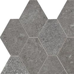 Epika Grey Mosaico Losanga Dek | Mosaici ceramica | Ceramiche Supergres