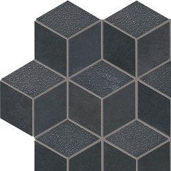 Met-All Mosaico Dado Dek Black | Mosaïques céramique | Ceramiche Supergres