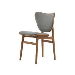Elephant Dining Chair, Smoked / Wool Light Grey 1000 | Chairs | NORR11