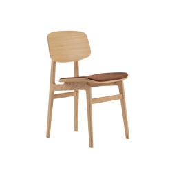 NY11 Dining Chair, Natural - Vintage Leather Rust | Sillas | NORR11